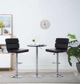 vidaXL Barstoel draaibaar 44x50x114 cm kunstleer zwart 2 st