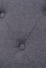 vidaXL Bankstel stof grijs 3-delig