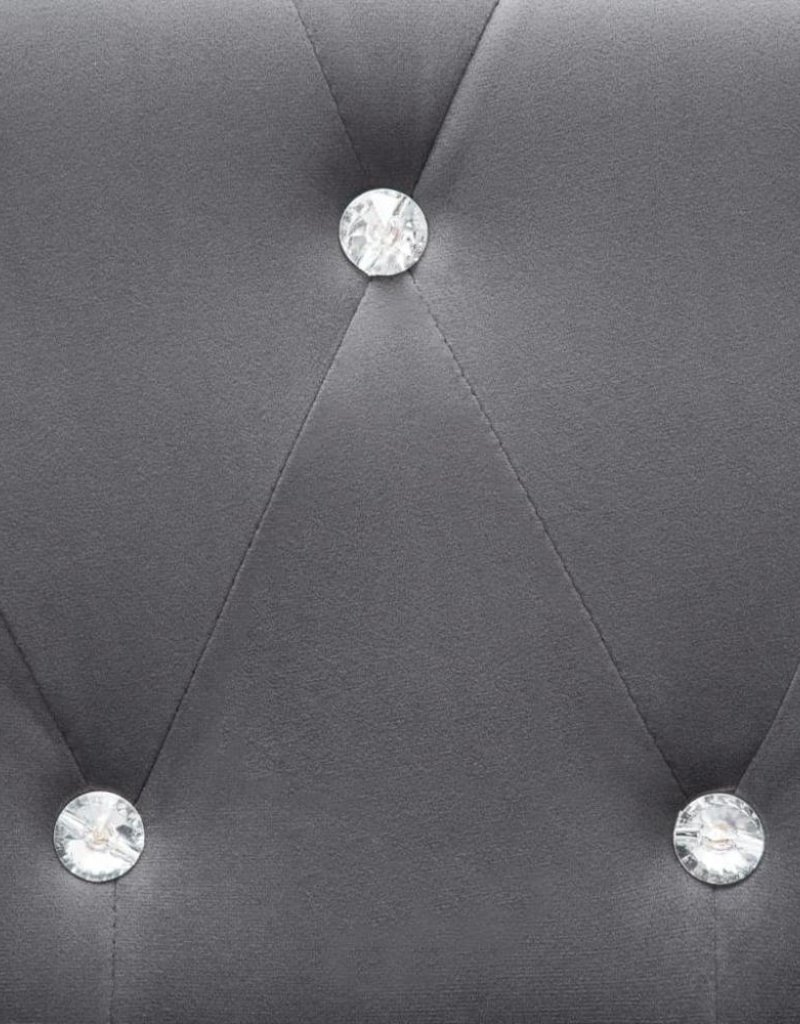 vidaXL Bank Chesterfield-stijl L-vormig 199x142x72 cm fluweel grijs