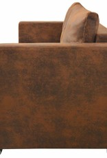 vidaXL 3-zitsbank 191x73x82 cm kunst suède leer