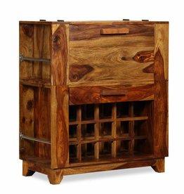 vidaXL Barkast 85x40x95 cm massief sheesham hout
