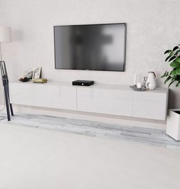 vidaXL Tv-kasten 120x40x34 cm spaanplaat hoogglans wit 2 st