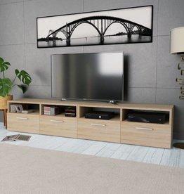 vidaXL Tv-kasten 95x35x36 cm spaanplaat eikenkleurig 2 st