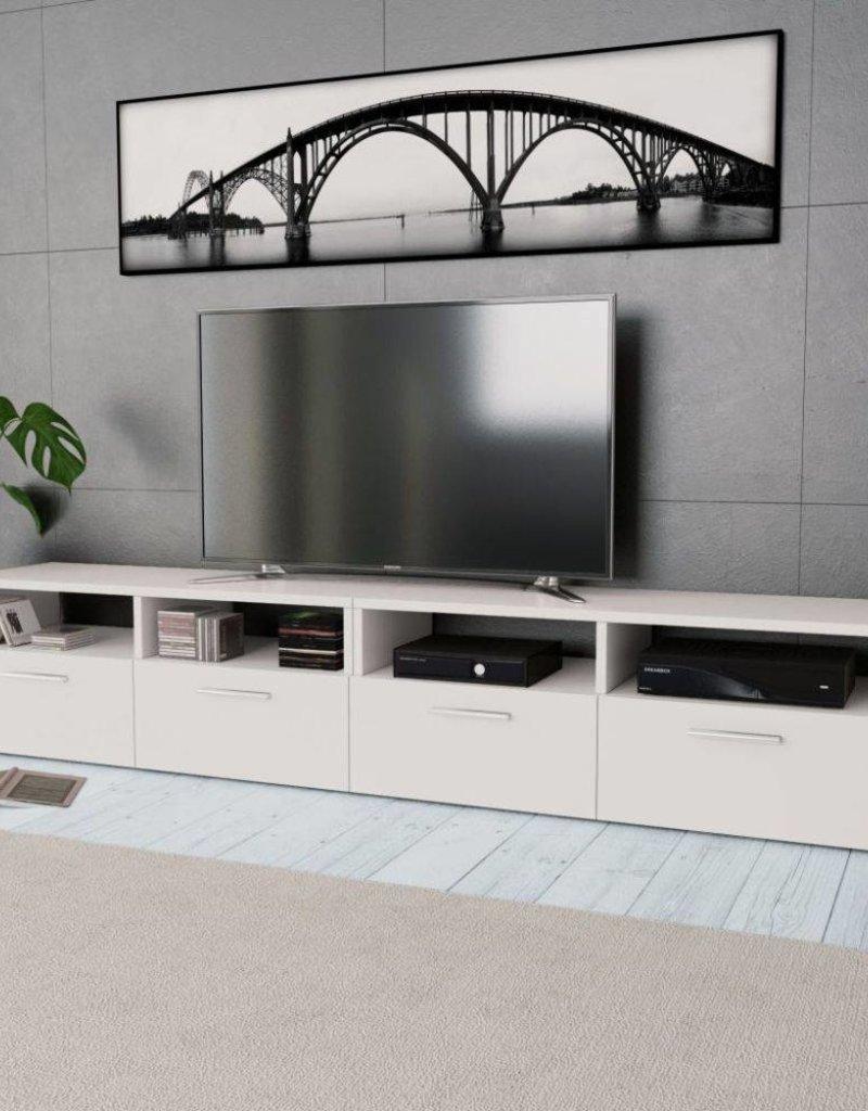 vidaXL Tv-kast 95x35x36 cm spaanplaat wit 2 st