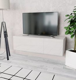 vidaXL Tv-kast 120x40x34 cm spaanplaat hoogglans wit