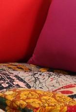 vidaXL Bankstel modulair stof patchwork 14-delig
