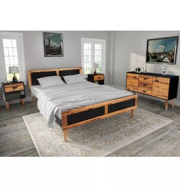 vidaXL Slaapkamer meubelset 180x200 cm  massief acaciahout 4-delig