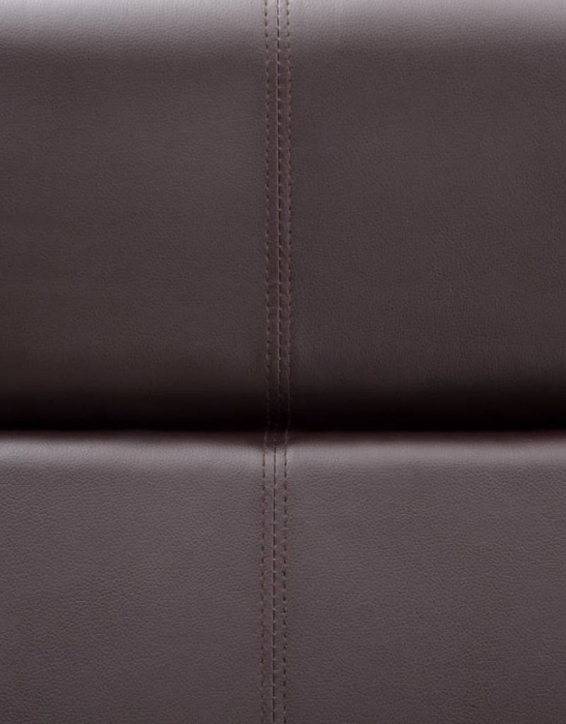 vidaXL Bank met verstelbare rugleuning L-vormig kunstleer bruin