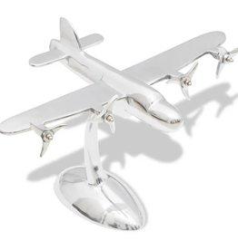 vidaXL Aluminium tafeldecoratie modelvliegtuig
