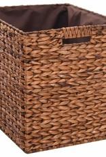 vidaXL Bankje met 2 manden 71x40x42 cm zeegras bruin