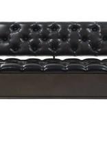 vidaXL Opslagbank met rugleuning 120x52x75 cm kunstleer