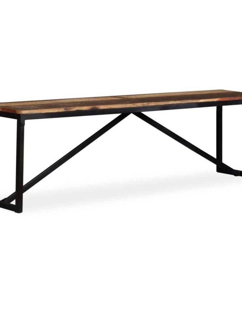vidaXL Bankje 160x35x45 cm massief gerecycled hout