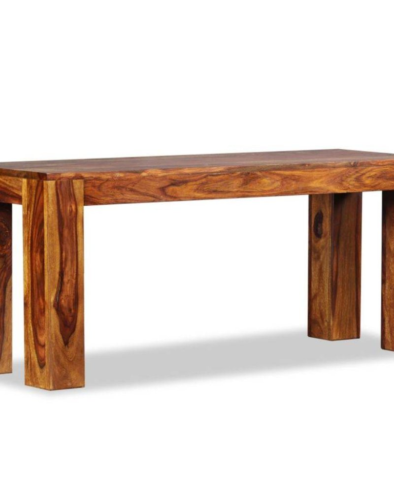 vidaXL Bankje 110x35x45 cm massief sheesham hout