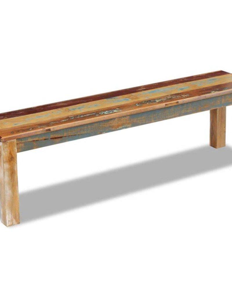 vidaXL Bank 160x35x46 cm massief gerecycled hout