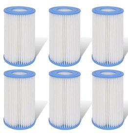 vidaXL Filter set 6-delig voor filterpomp 1000 gal/H