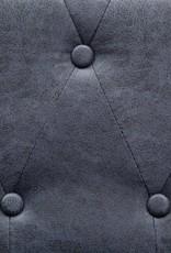 vidaXL Bankstel Chesterfield-stijl kunstsuède grijs