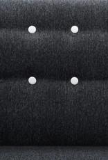 vidaXL Bank L-vormig 171,5x138x81,5 cm stoffen bekleding donkergrijs