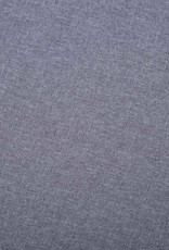 vidaXL Bank L-vormig 186x136x79 cm stoffen bekleding lichtgrijs