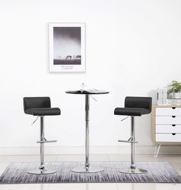 vidaXL Barstoelen kunstleer zwart 2 st