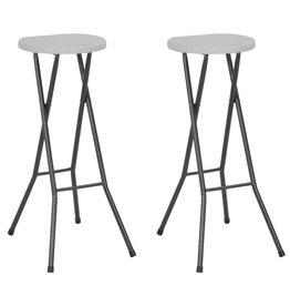 vidaXL Barstoelen inklapbaar 35x44x80 cm HDPE wit 2 st