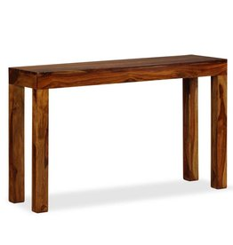 vidaXL Console tafel 120x35x75 cm massief sheesham hout