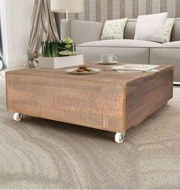 vidaXL Salontafel bruin massief hout