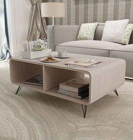vidaXL salontafel 90x55,5x38,5 cm hout grijs