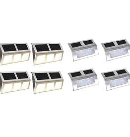 vidaXL Solarlampenset LED-lampen 8-delig