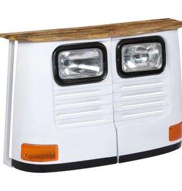 vidaXL Dressoir vrachtwagen massief mangohout wit
