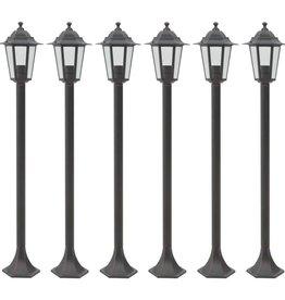 vidaXL Paalverlichting voor tuin E27 110 cm aluminium brons 6 st