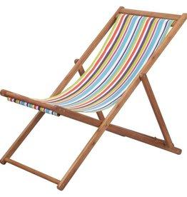 vidaXL Strandstoel inklapbaar stof meerkleurig