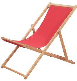 vidaXL Strandstoel inklapbaar stof rood