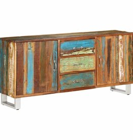 vidaXL Dressoir 160x40x76 cm massief gerecycled hout