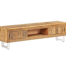 vidaXL Tv-meubel 140x30x40 cm massief gerecycled bielshout