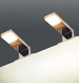 vidaXL Spiegellamp 2 W warm wit 2 st