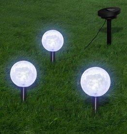 vidaXL Tuinlampen op zonne-energie LED 3 stuks met grondpinnen en zonnepaneel