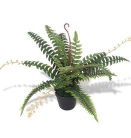vidaXL Kunst varen plant met pot 50 cm groen