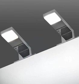 vidaXL Spiegellamp 2 W koud wit 2 st