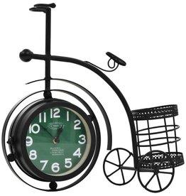 vidaXL Klok dubbelzijdig driewieler vintage stijl