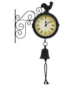 vidaXL Tuinklok met thermometer vintage stijl
