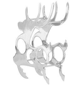 vidaXL Wijnrek 33x14x54 cm massief aluminium zilverkleurig