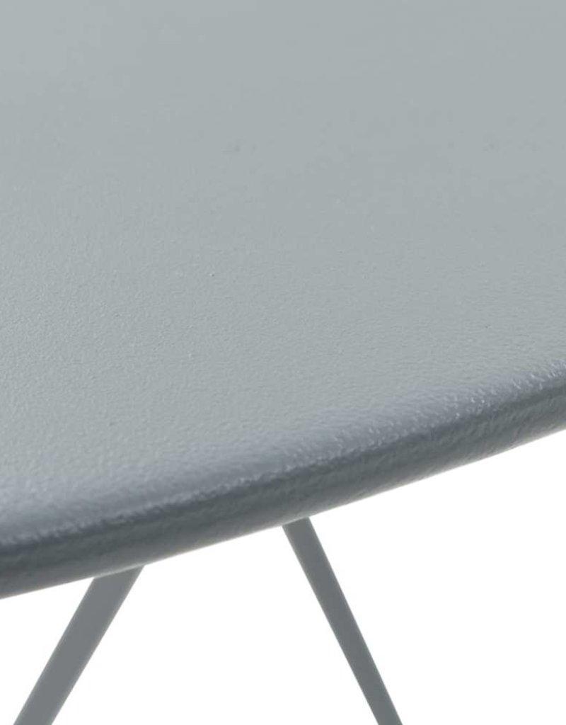 vidaXL Bistroset 3-delig staal grijs