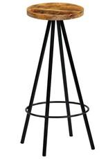 vidaXL Barkrukken 30x30x76 cm massief mangohout 2 st