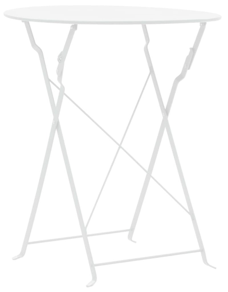 vidaXL Bistroset 3-delig staal wit