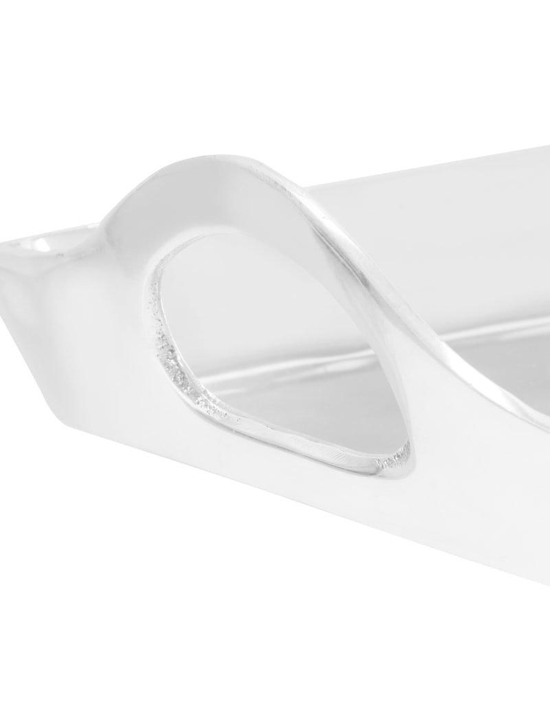 vidaXL Tafel op voet 47x24x81 cm gegoten aluminium zilverkleurig
