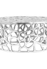 vidaXL Salontafel 70x30 cm gegoten aluminium zilverkleurig
