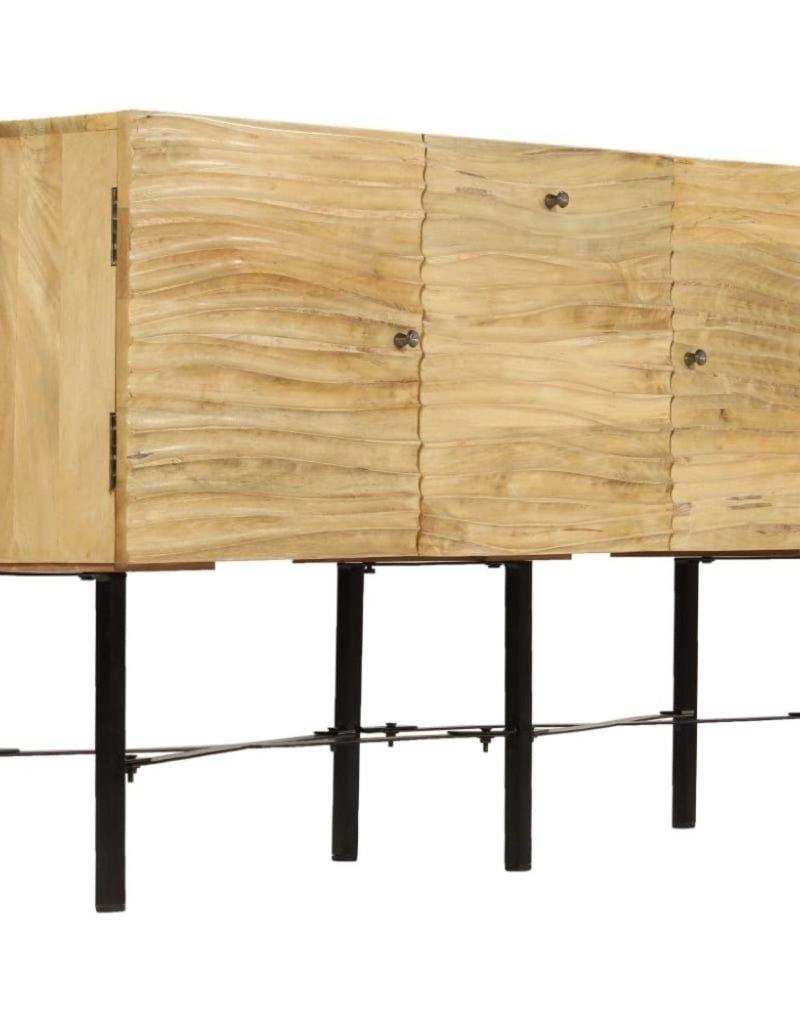 vidaXL Dressoir 118x30x70 cm massief mangohout