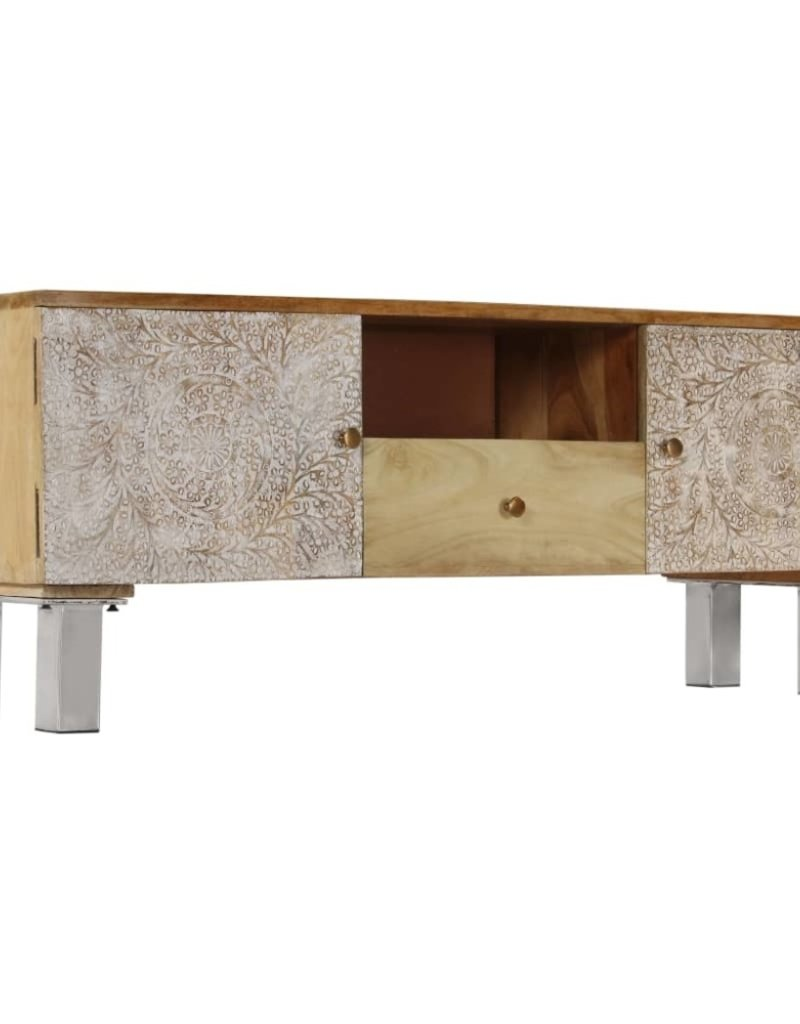 vidaXL Tv-meubel 118x30x45 cm massief mangohout