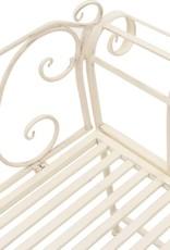 vidaXL Bank met krulpatroon metaal antiek wit