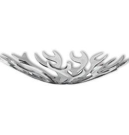 vidaXL Fruitmand vlammenvorm zilver aluminium
